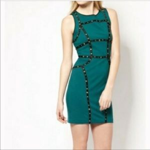 Cynthia Stefee studded green dress size 4
